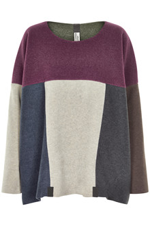 HENRIETTE STEFFENSEN Copenhagen 1293 PATCH SWEATER MULTICOLOR