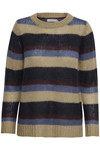CREAM BERNICE STRIPED PULLOVER 10604126