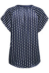 CULTURE ALLY DOT CAP SLEEVE BLUSE 50105285