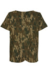 SOAKED IN LUXURY LAMO CAMO TOP 30404077