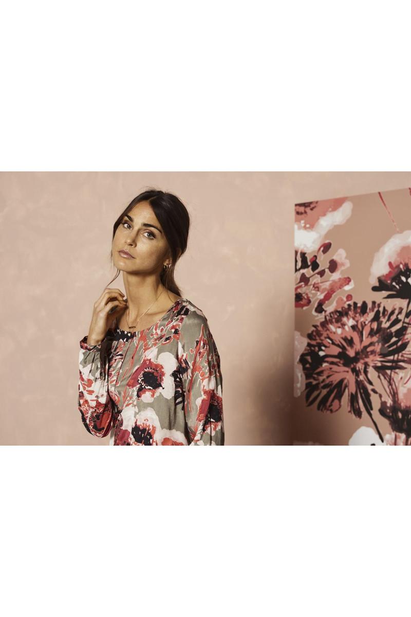 Kaffe Anya Blouse 10502275 Clothing Company Petal Skirt Olive