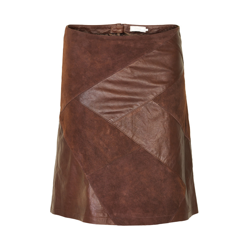 khaki leather skirt dress ala