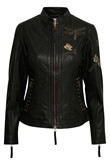 CREAM FIORELLA LEATHER JACKET 10604062