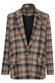 SOAKED IN LUXURY SL INDIE CHECK BLAZER 30404357