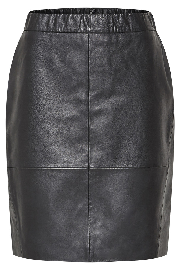 EDUCE AGGASI LEATHER SKIRT 50301389