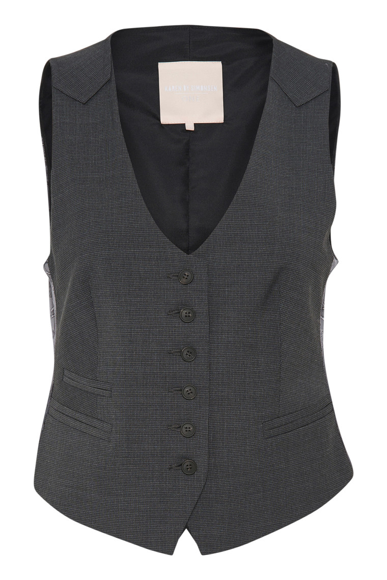 KAREN BY SIMONSEN SYDNEY CHECKED VEST 10100816
