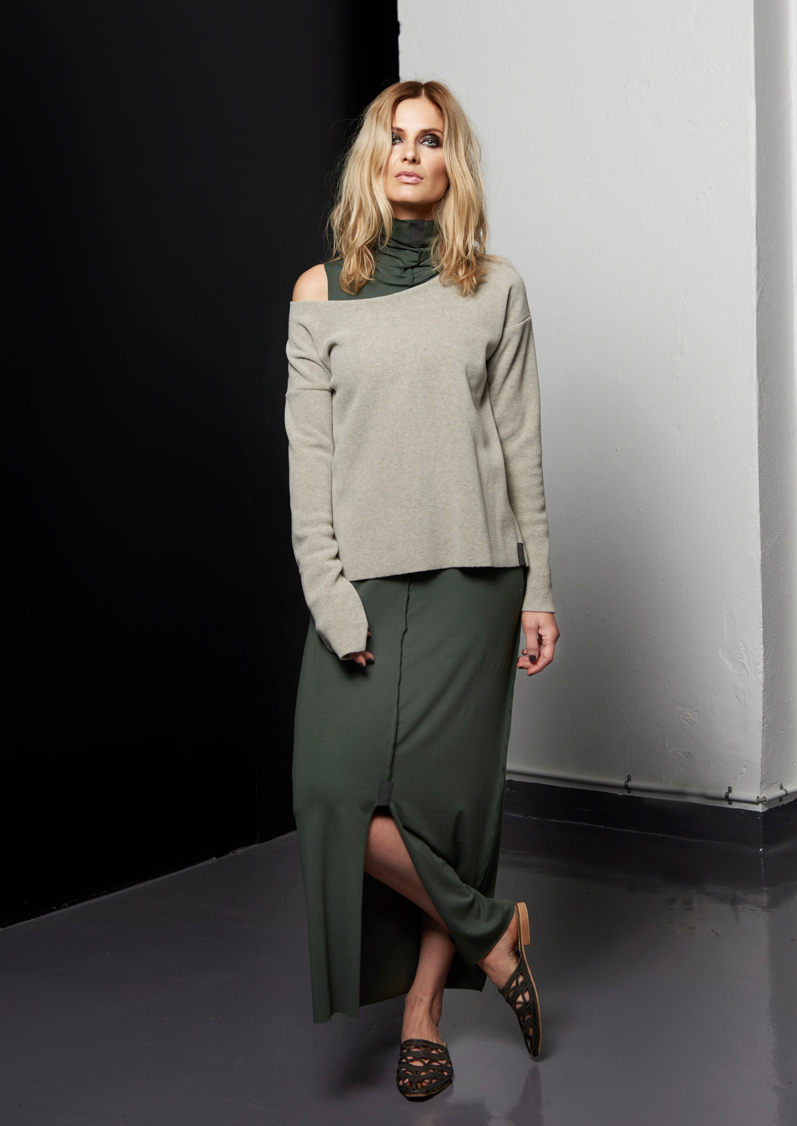 46fb3eb7c12f HENRIETTE STEFFENSEN Copenhagen 6055 DRESS LONG GREEN