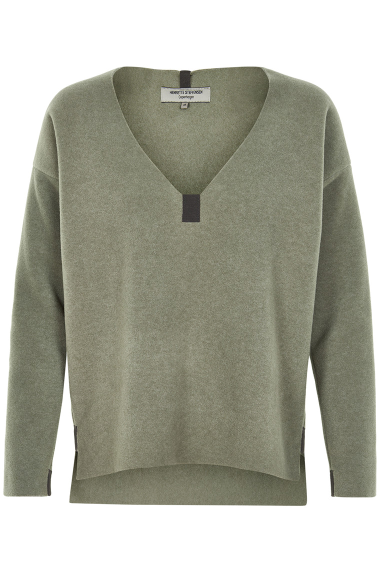 HENRIETTE STEFFENSEN Copenhagen 1285 SWEATER DUSTY GREEN