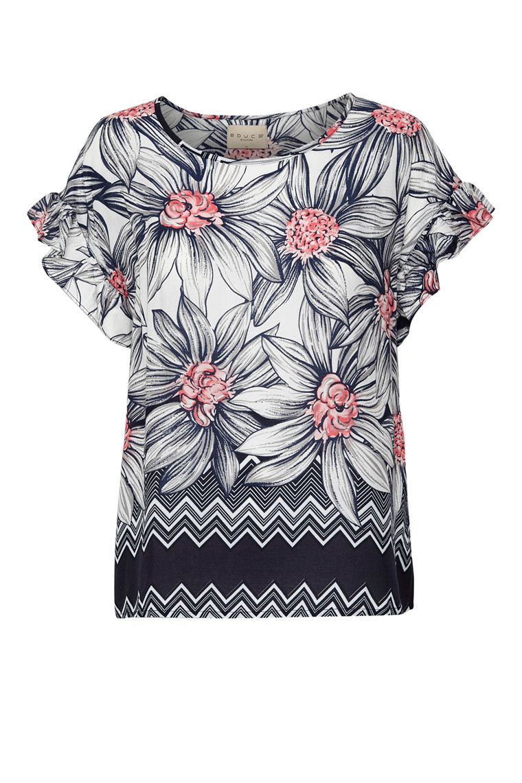 EDUCE FLORENCE SS BLOUSE 50301315