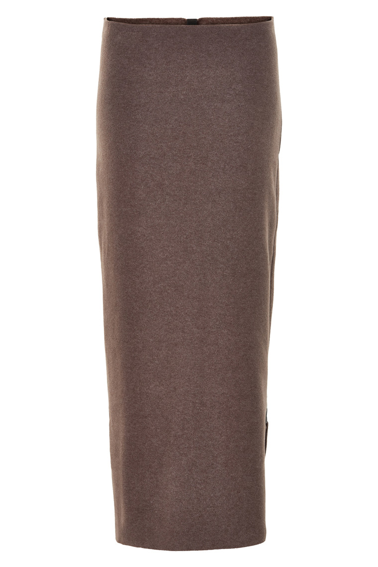 HENRIETTE STEFFENSEN Copenhagen 3208 LONG SKIRT BROWN