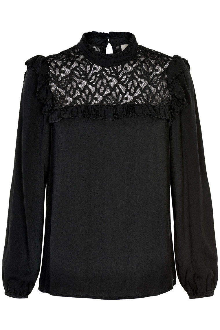 EDUCE OLIVIA LS BLOUSE 50301597
