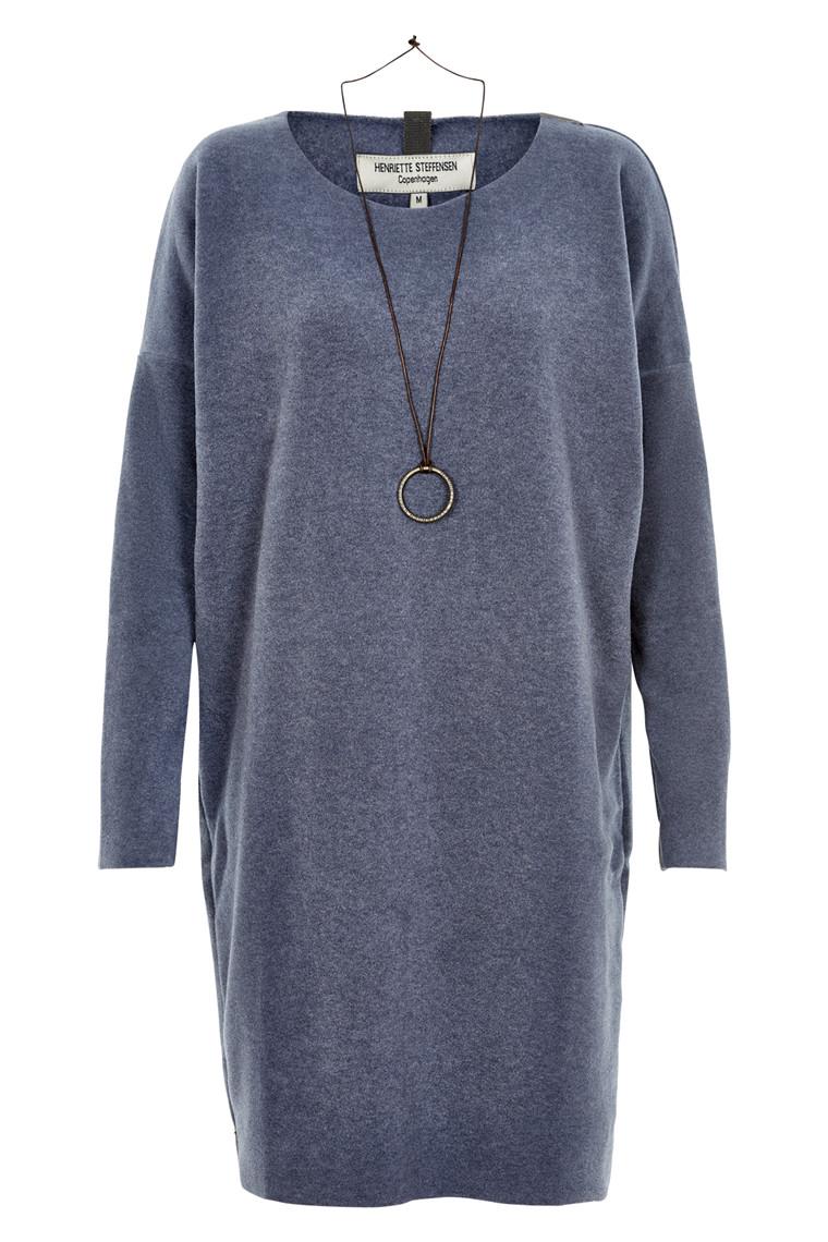 HENRIETTE STEFFENSEN Copenhagen 3211 DRESS DEEP BLUE