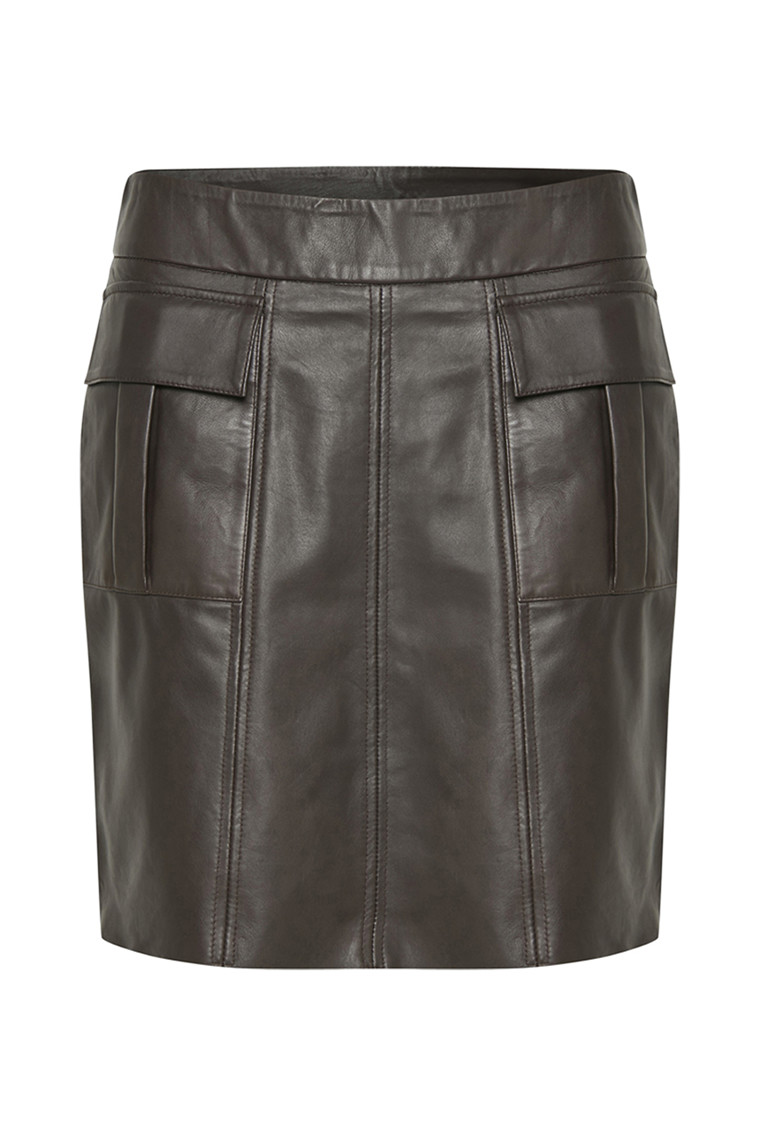KAREN BY SIMONSEN PATRON LEATHER SKIRT 10100909