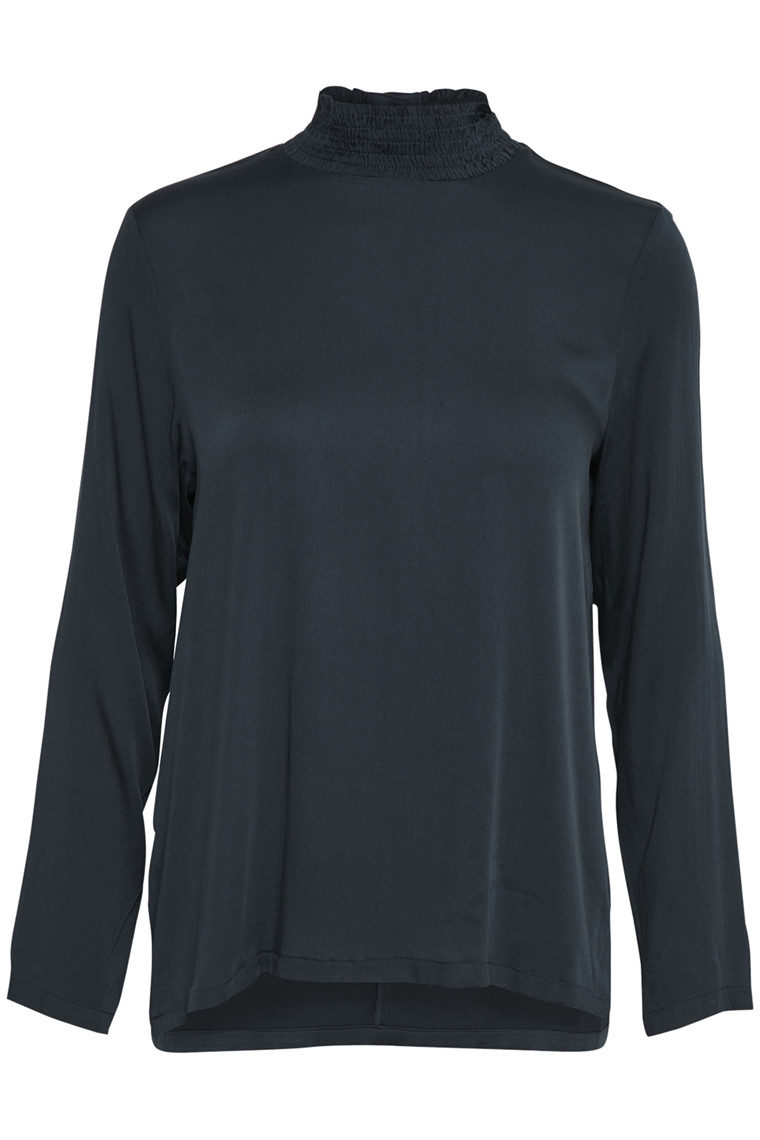 SOAKED IN LUXURY ALINE BLUSE LS