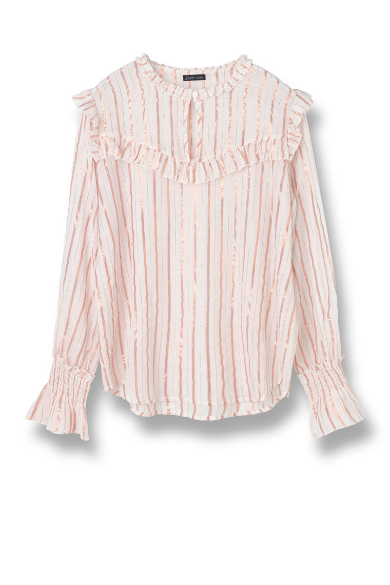 STELLA NOVA DETAILED STRIPES BLOUSE DS81-4343