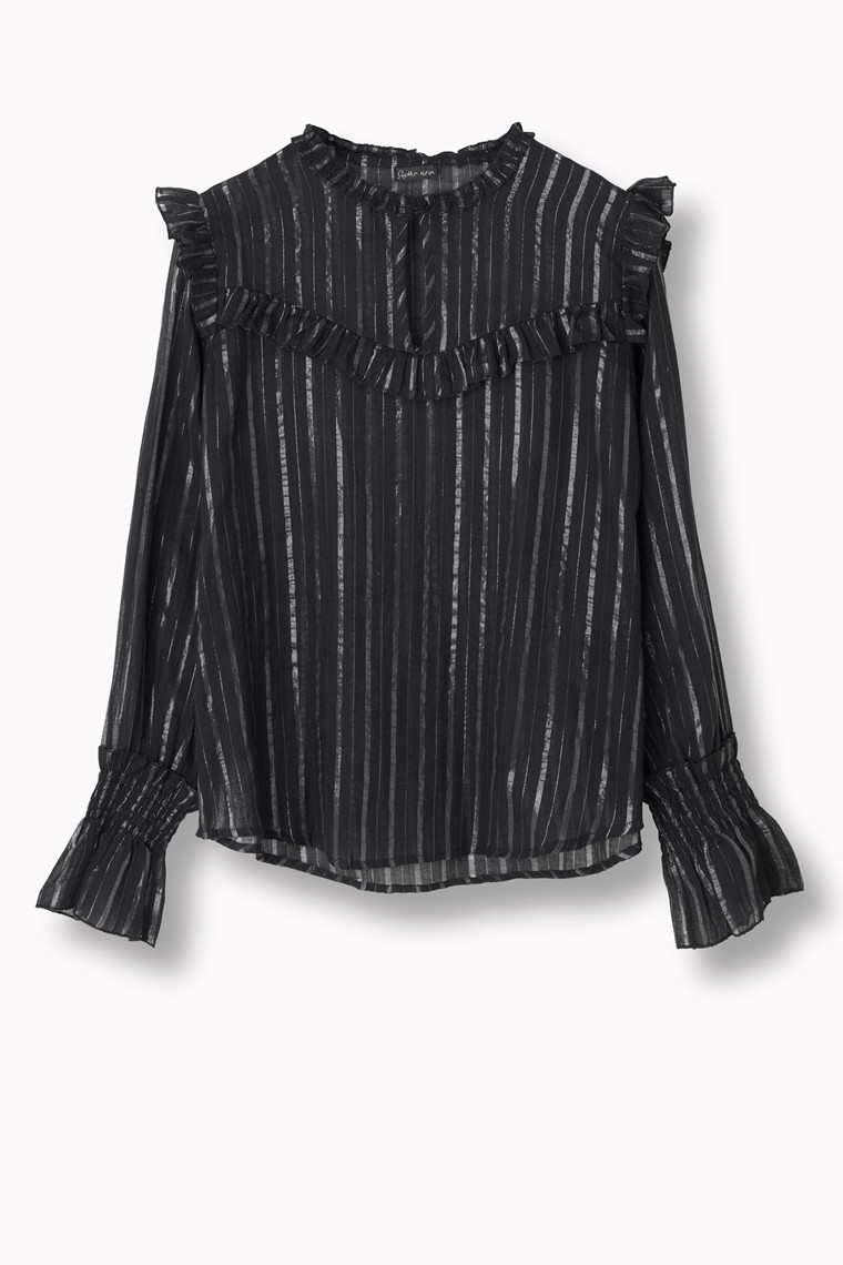 STELLA NOVA DETAILED STRIPES BLOUSE DS81-4343 B