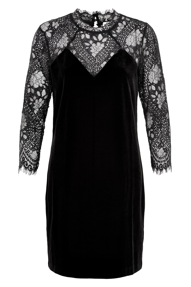 NEO NOIR SERENA VELVET DRESS 015095