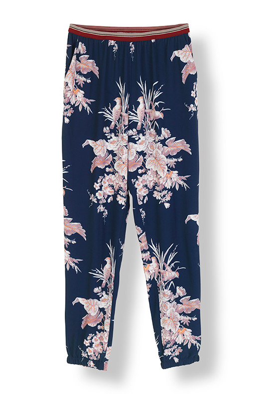 STELLA NOVA BIRD FLOWER PANTS 81LD-BF01 M