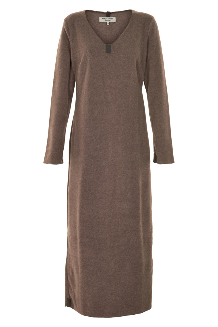HENRIETTE STEFFENSEN Copenhagen 3213 LONG DRESS BROWN