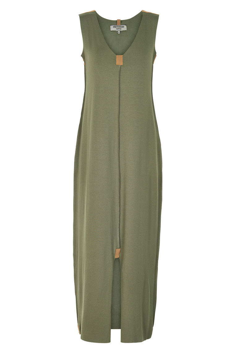 HENRIETTE STEFFENSEN Copenhagen 8012G DRESS DUSTY GREEN