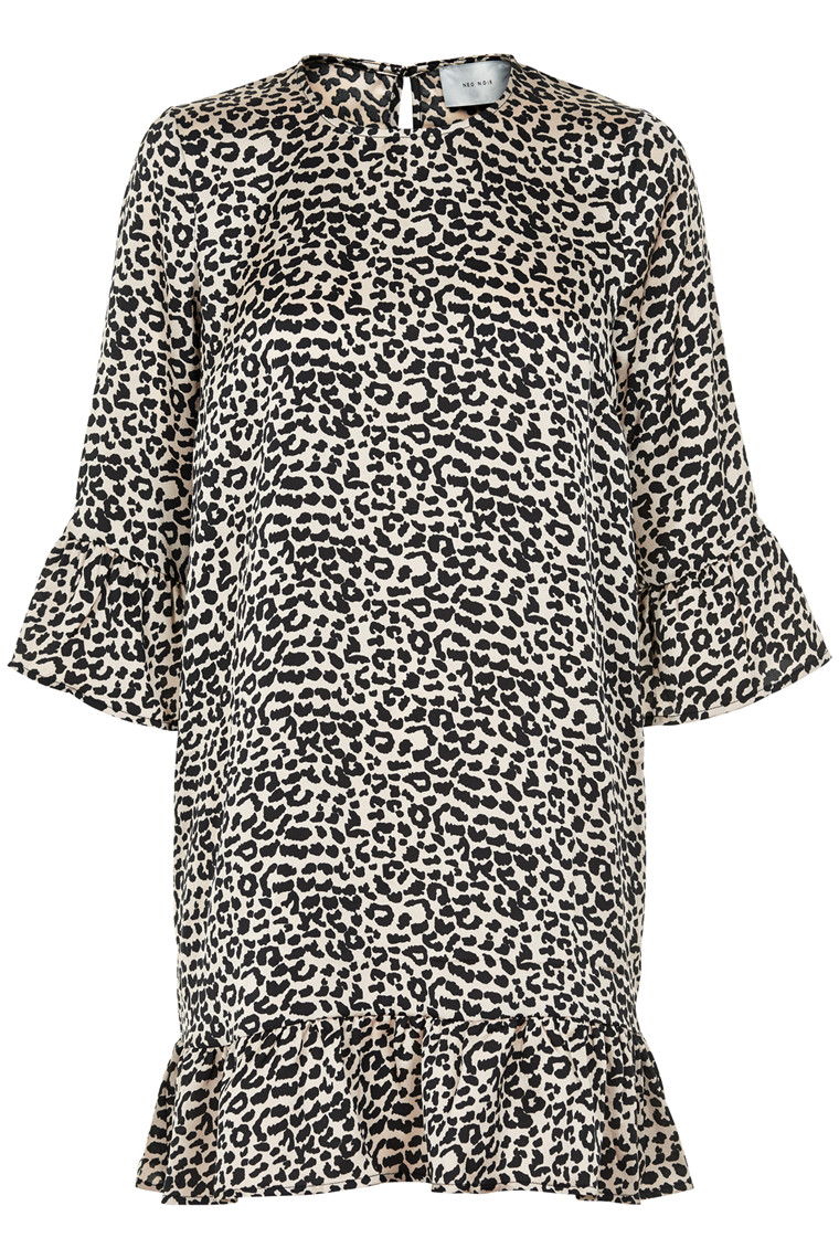 NEO NOIR REBECCA GRAPHIC LEO DRESS 015256