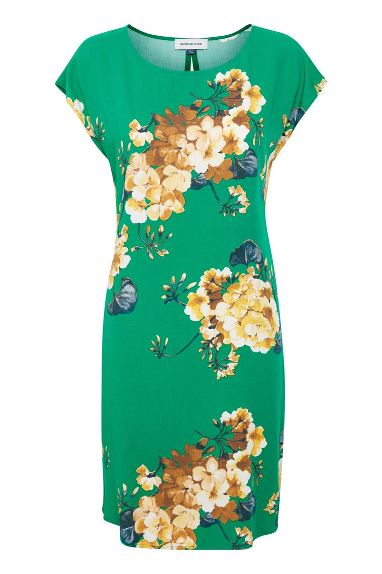 Denim Hunter SØRINE GREEN FLOWER DRESS 10701753