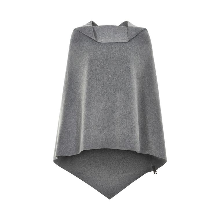 HENRIETTE STEFFENSEN Copenhagen 4040 PONCHO BIG Grey