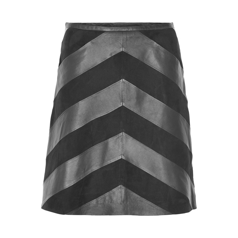 STELLA NOVA RAW LEATHER SKIRT RL63-6863