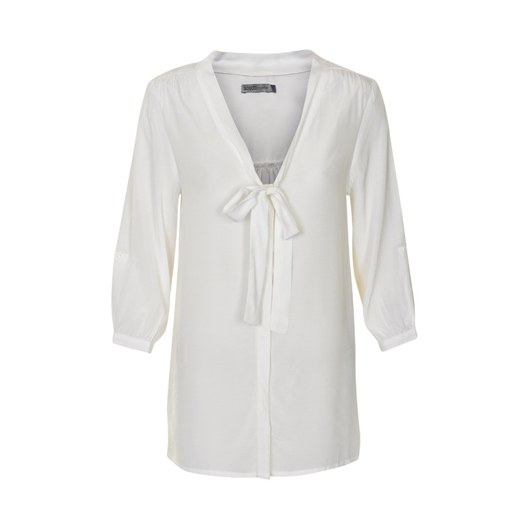 SOAKED IN LUXURY TIE BLUSE 30400351