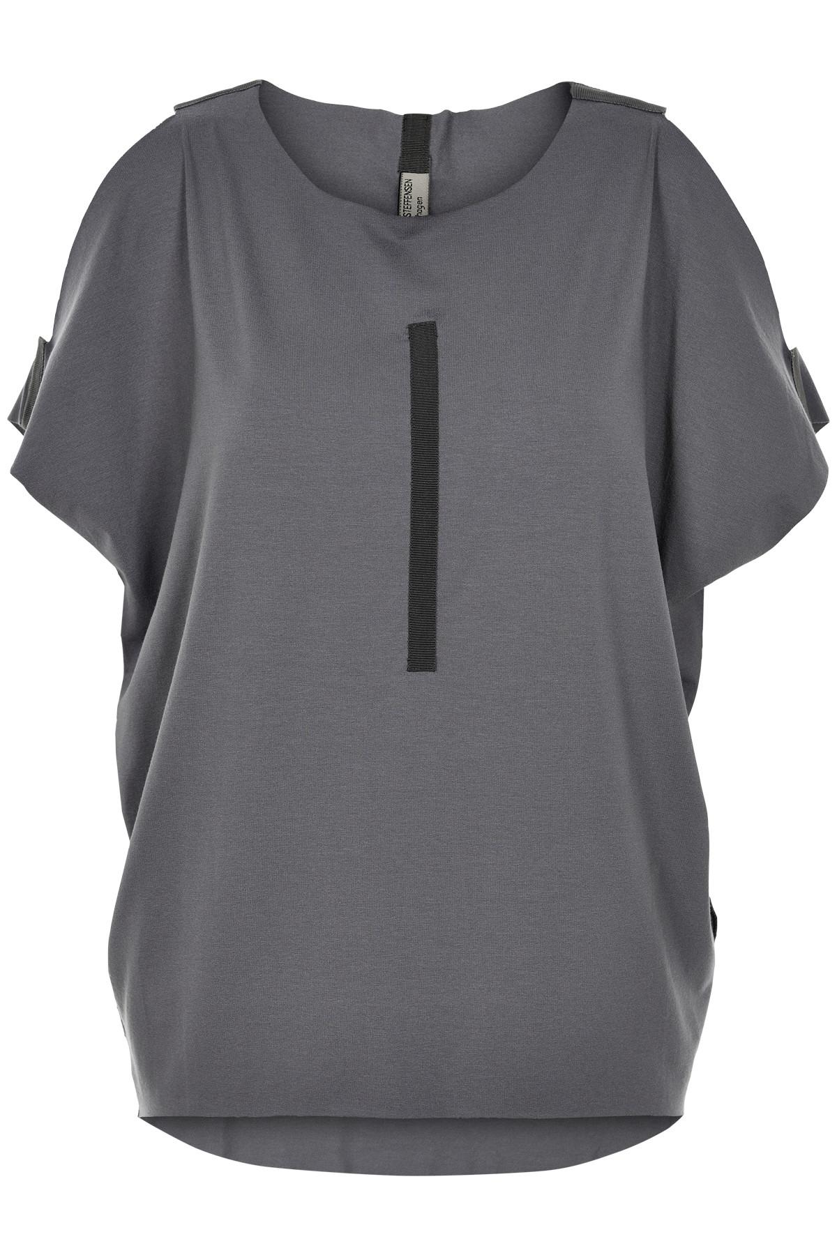 Image of   HENRIETTE STEFFENSEN Copenhagen 6010 T-SHIRT GREY (Grey, S)