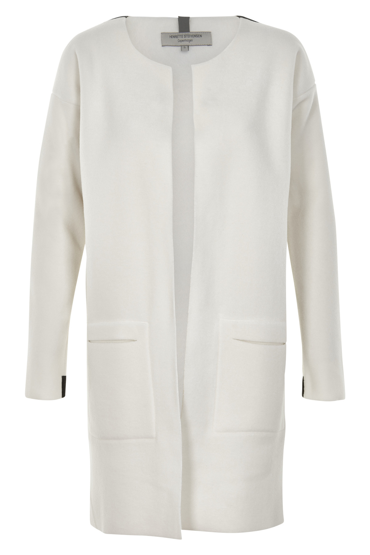 Image of   HENRIETTE STEFFENSEN Copenhagen 7104 CARDIGAN LONG OFF WHITE (Off White, XL)
