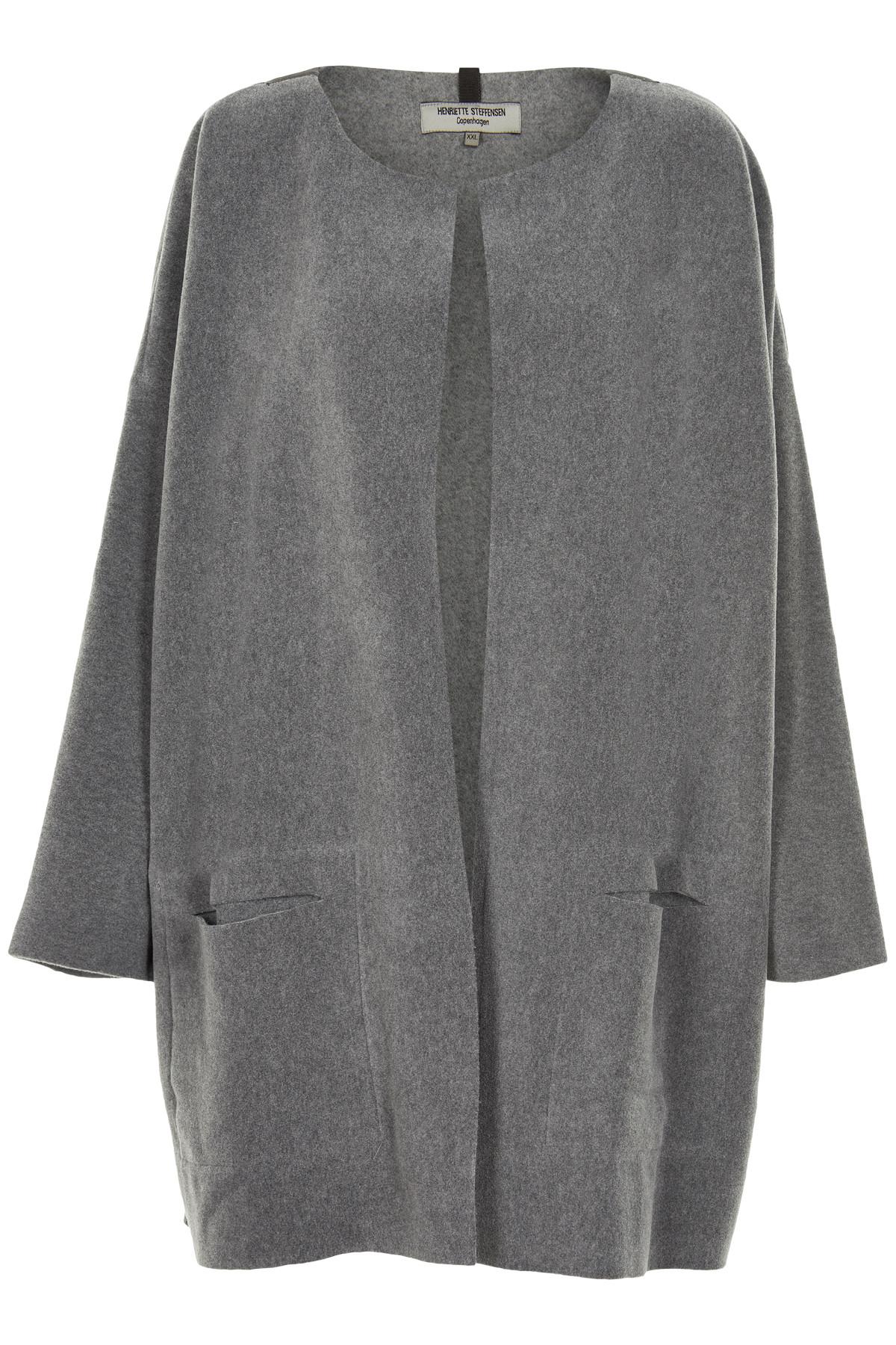 Image of   HENRIETTE STEFFENSEN Copenhagen 7105 CARDIGAN GREY (Grey, S)