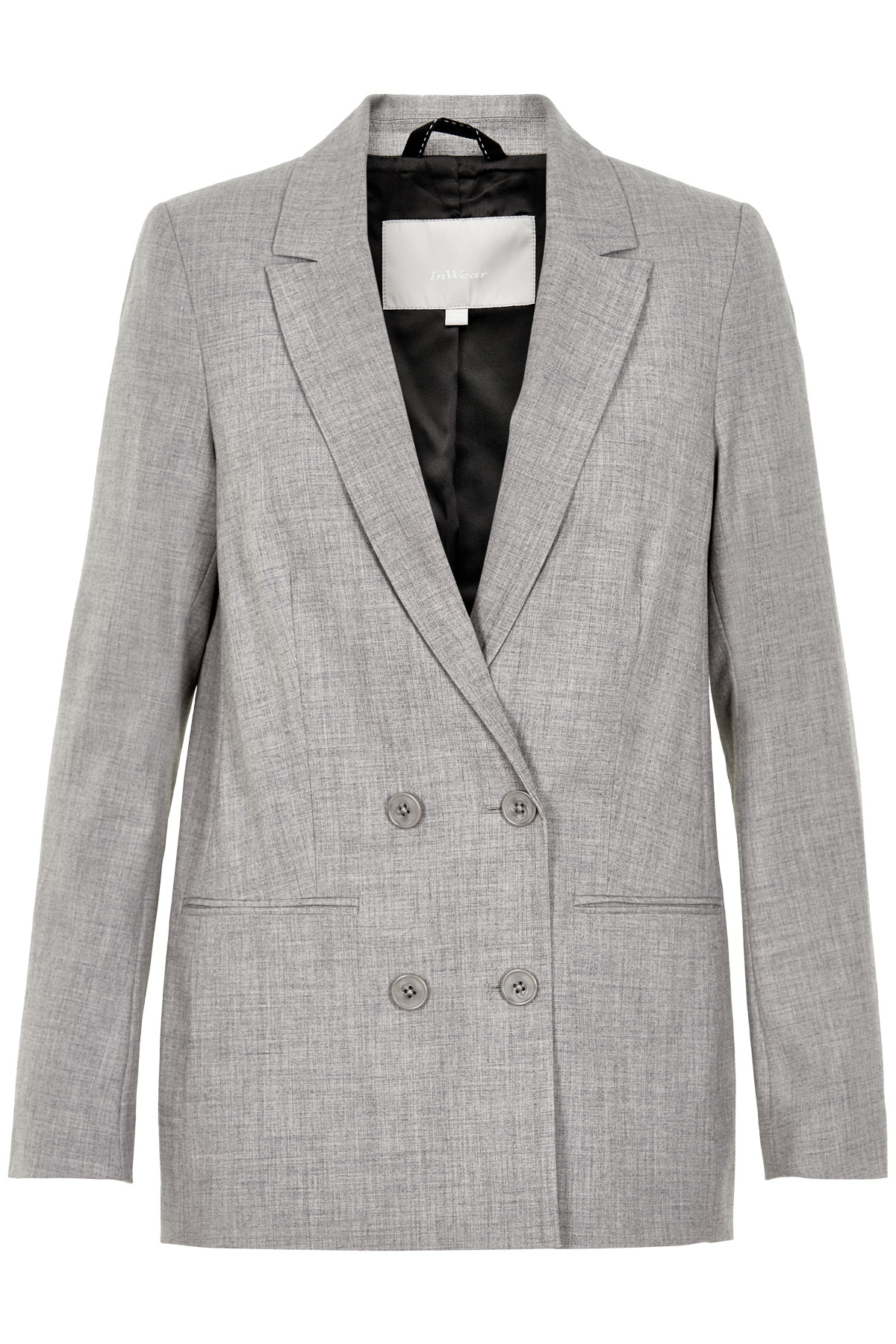 Image of   InWear CHAIA BLAZER HW N (New Light Grey Melange 10045, 40)