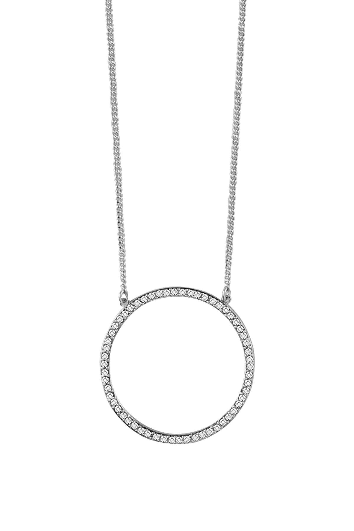 Image of   DYRBERG/KERN ARLIE HALSKÆDE 350833 (Silver, Crystal, ONESIZE)