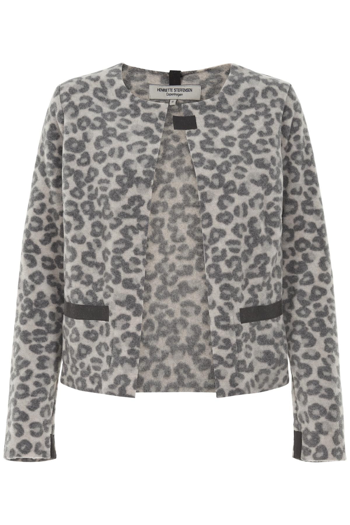 Image of   HENRIETTE STEFFENSEN Copenhagen 7109 CARDIGAN LEOPARD (Leopard, M)
