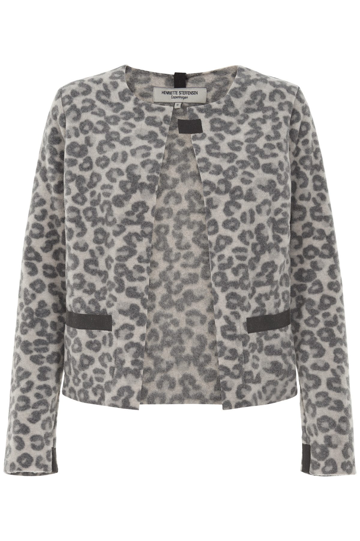 Image of   HENRIETTE STEFFENSEN Copenhagen 7109 CARDIGAN LEOPARD (Leopard, L)