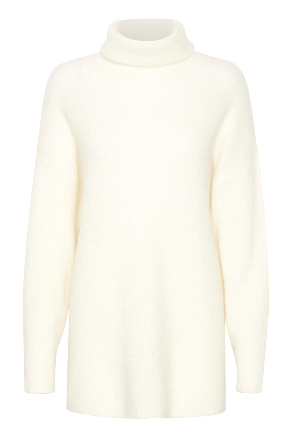 Image of   GESTUZ LIVIA SOLID ROLLNECK (Cloud Dancer 90075, M)