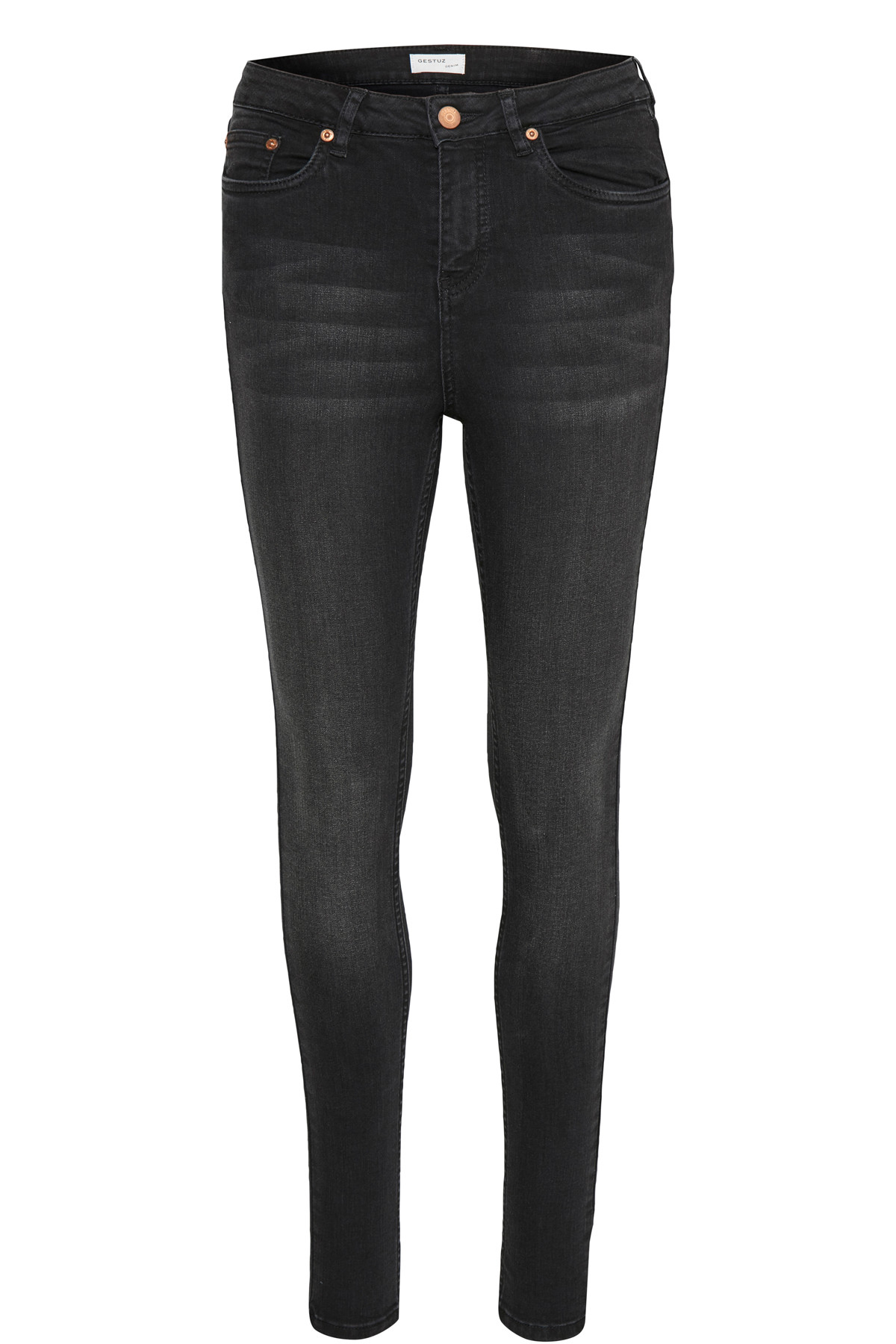 "Image of   GESTUZ EMILY JEANS 10900068 (Charcoal Grey 90899, ""32"", 28)"