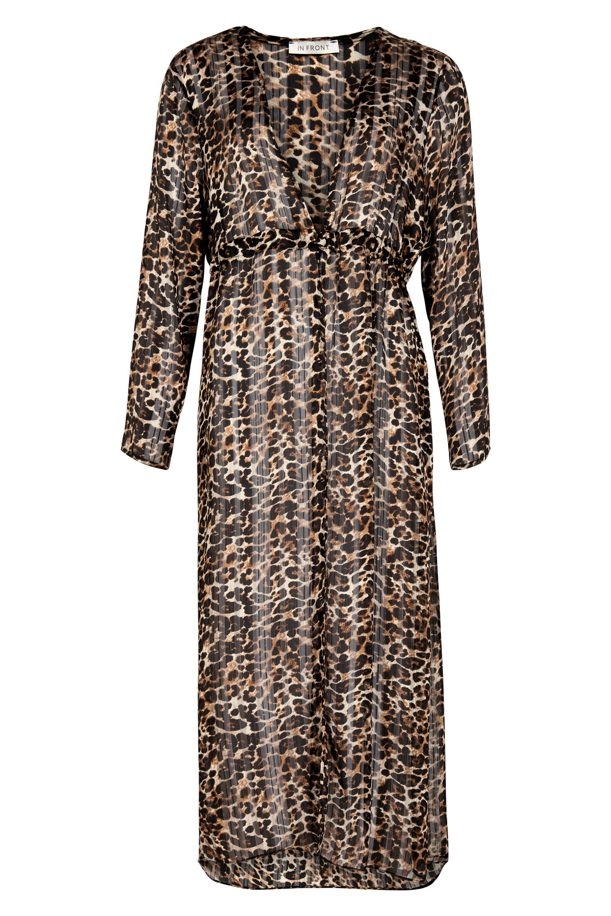 Image of   IN FRONT ANNA LANG LEOPARD CARIGAN 13056 (Dark Coffee 809, XL)