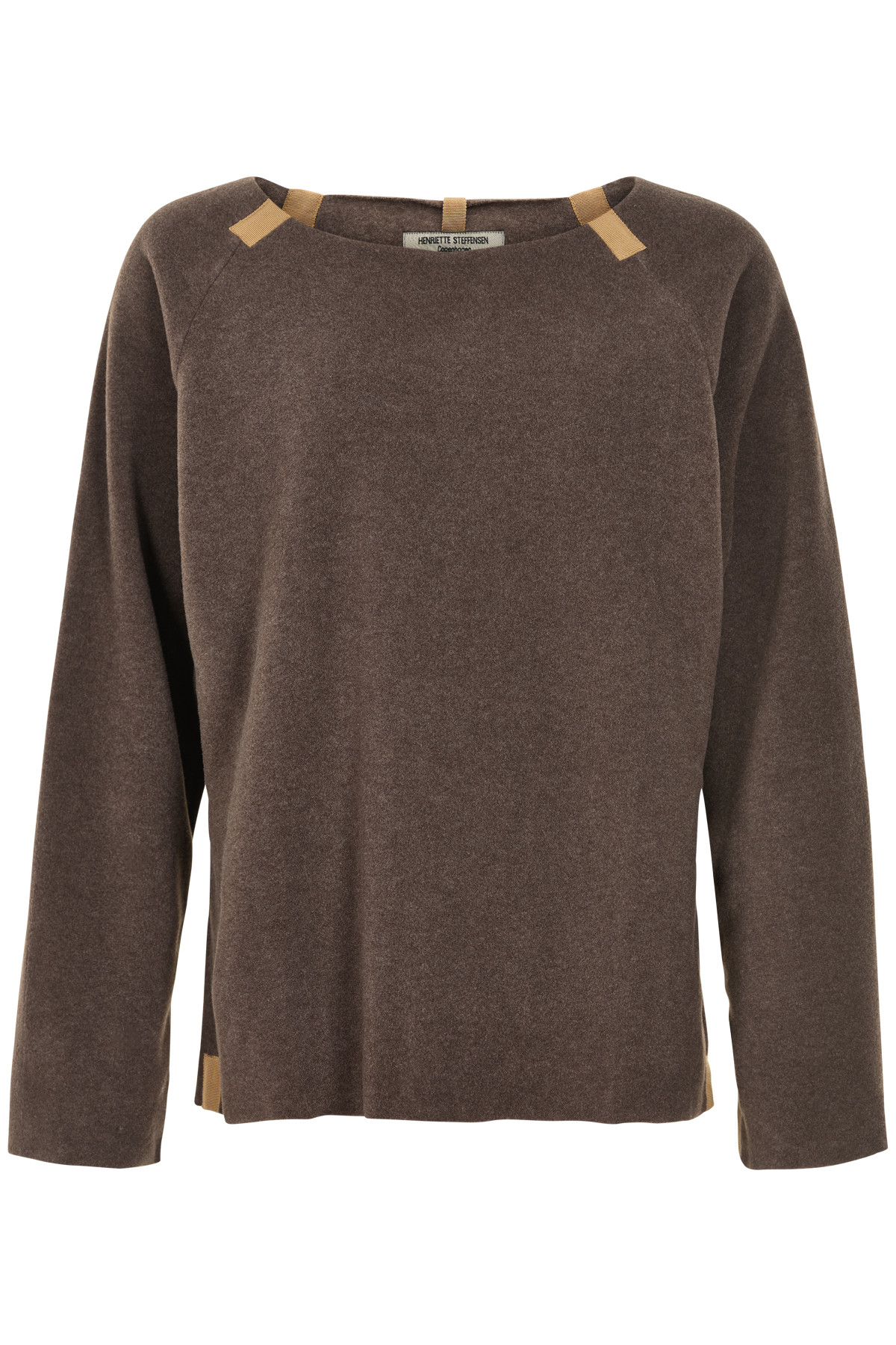 Image of   HENRIETTE STEFFENSEN Copenhagen 1290G SWEATER BROWN (Brown, S)