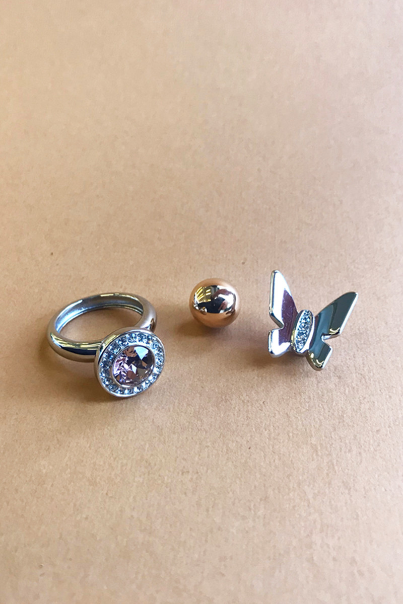Image of   DYRBERG/KERN COMPLIMENTS SET 8 RING TF 10677 (Silver, ONESIZE)