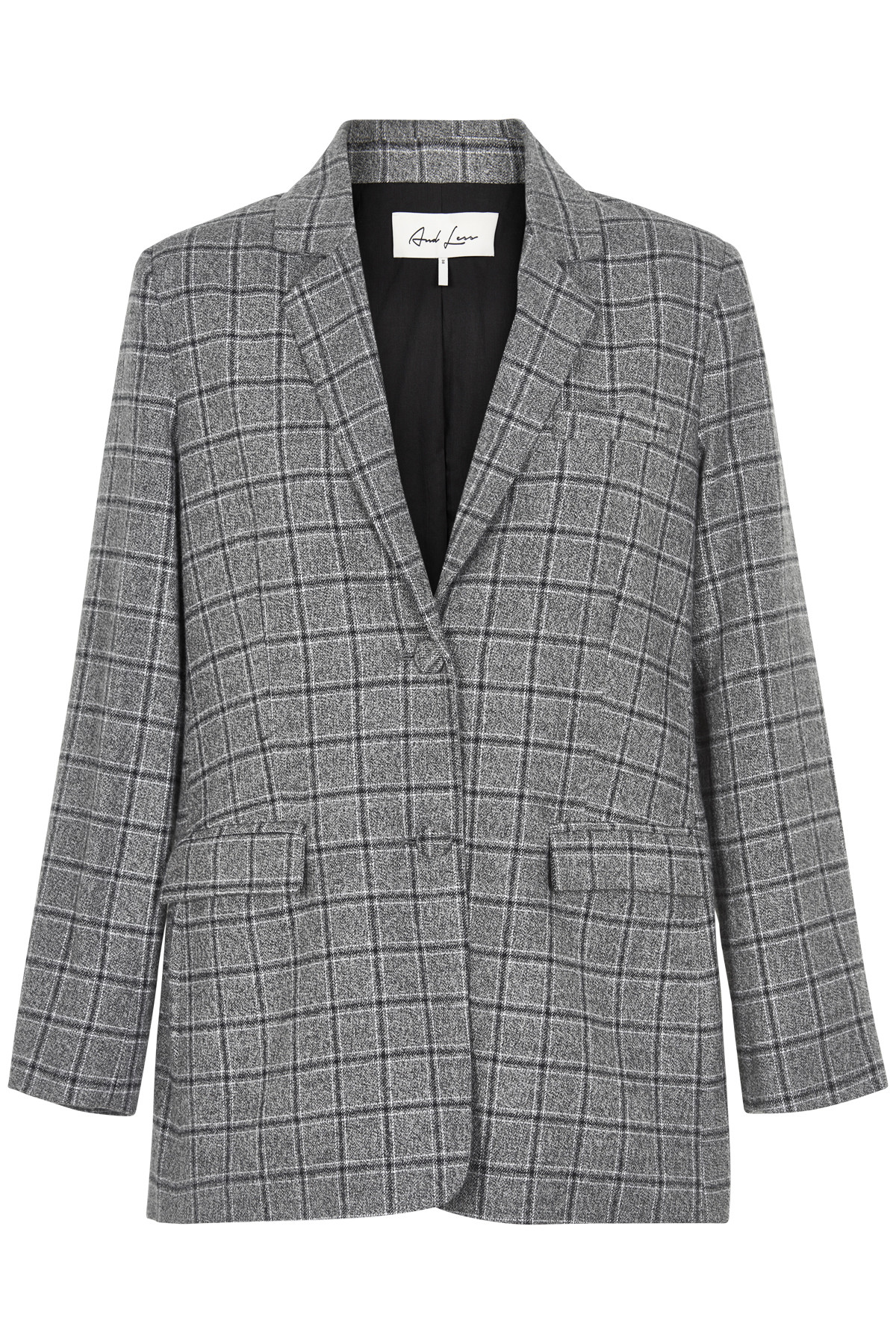 Image of   AND LESS CHARLOTI BLAZER 5119902 (Caviar Check, 36)