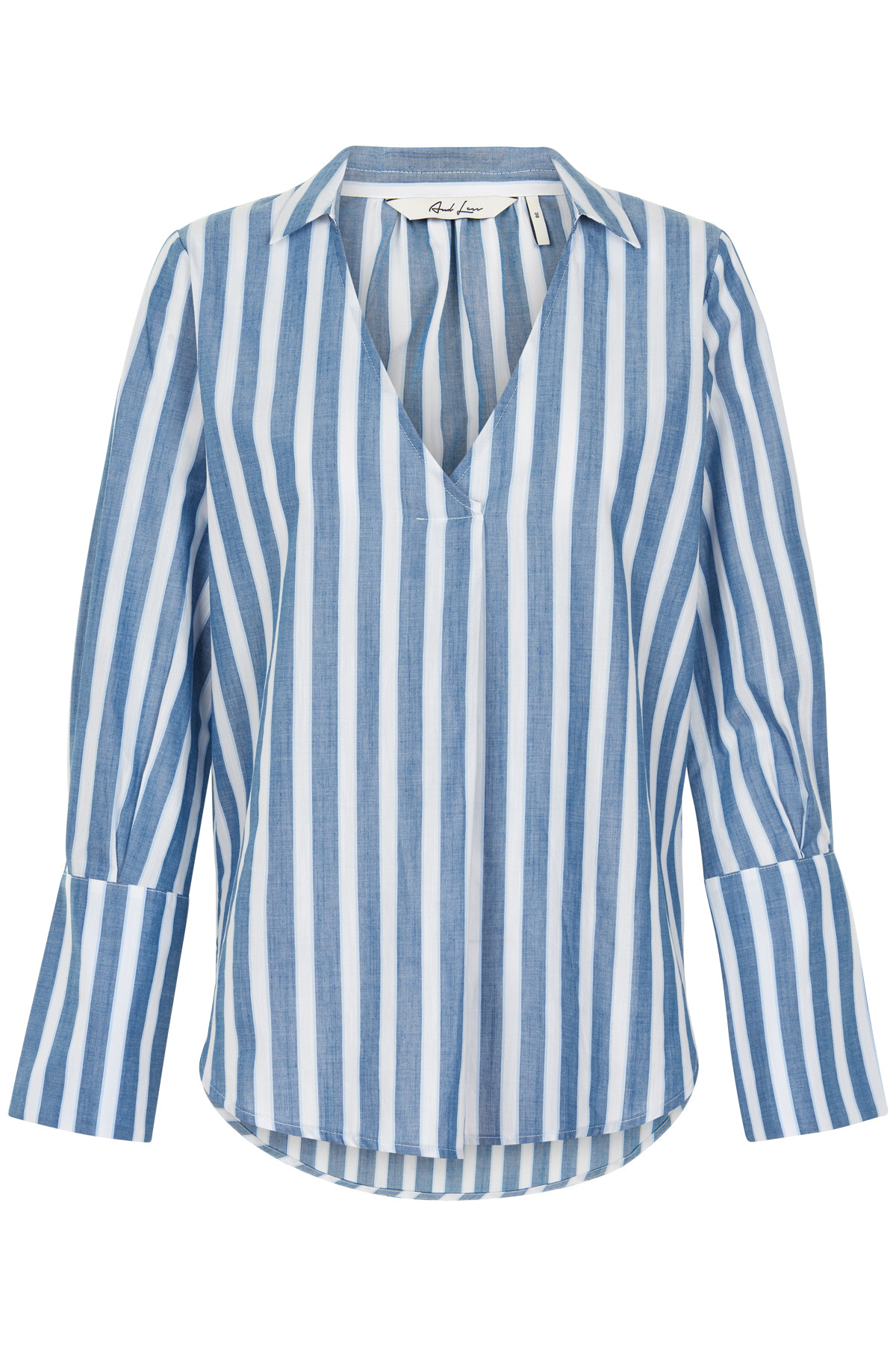 Image of   AND LESS RAENE BLUSE 5219008 (Blue Stripes, 40)