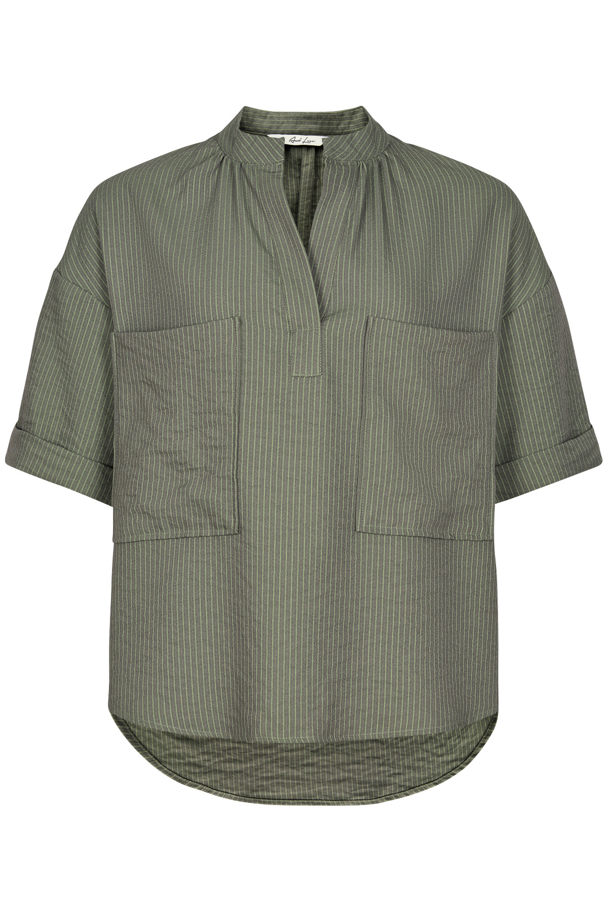 Image of   AND LESS ORIBELLA BLUSE 5219017 (Castor Green, 36)