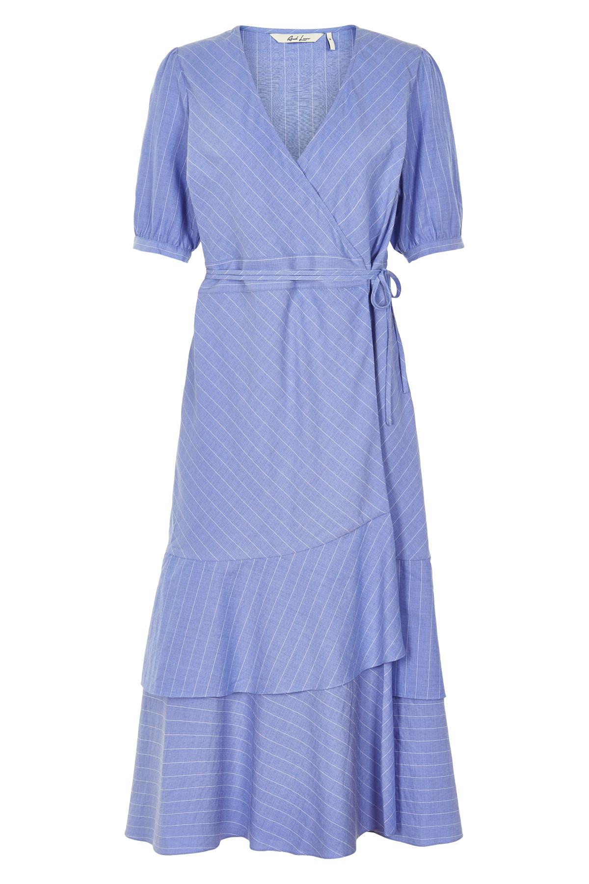 Image of   AND LESS PIOLAA KJOLE 5219803 (Blue Stripe, 42)