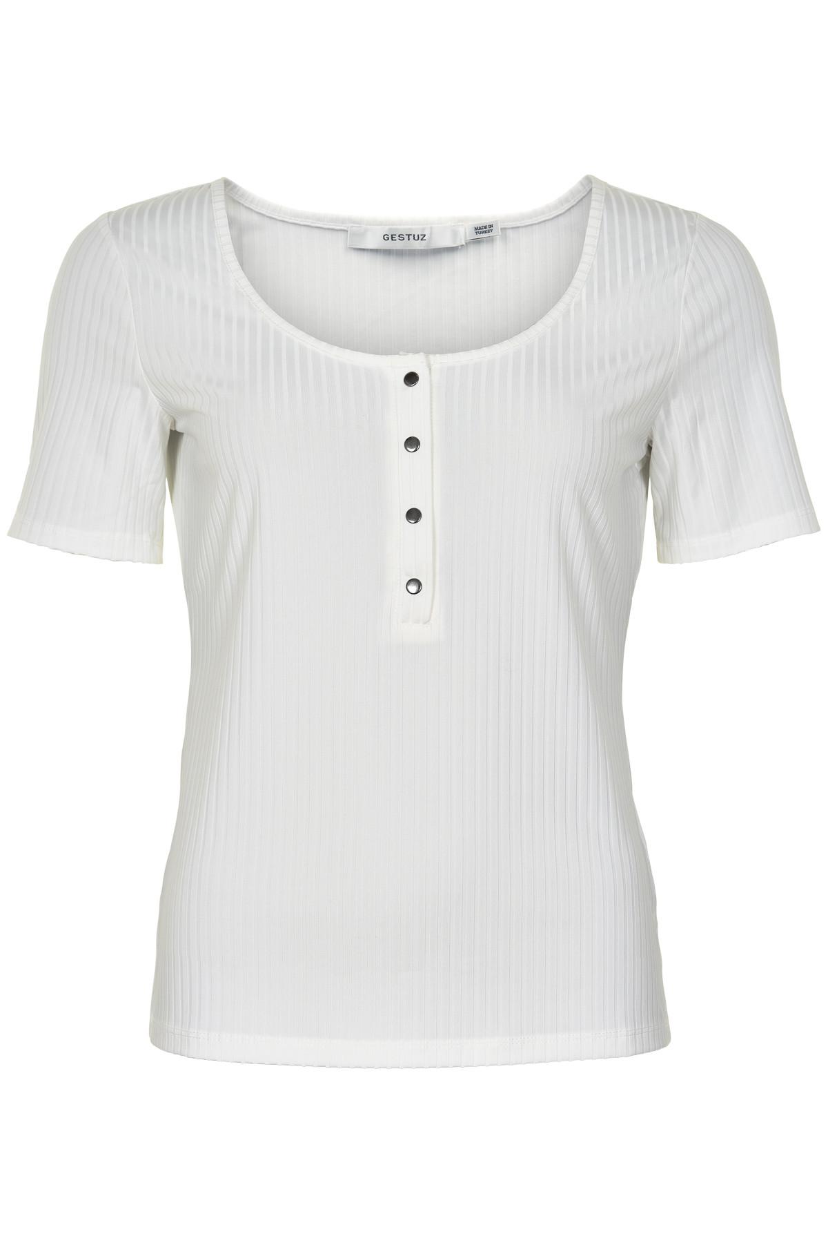 Image of   GESTUZ ROLLOGZ T-SHIRT B (Bright White 90014, XS)