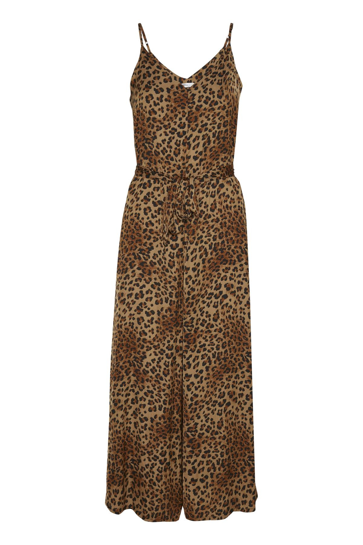 Image of   GESTUZ JANEGZ JUMPSUIT (Brown Leo 90583, 40)