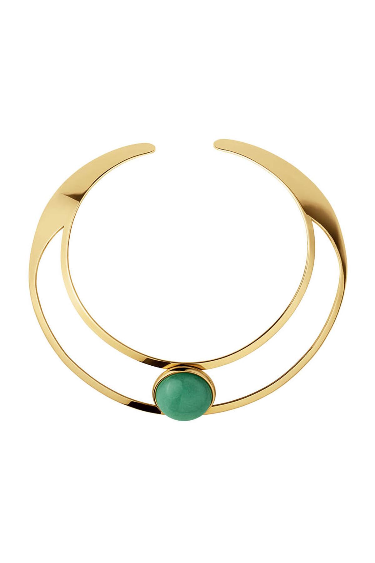 Image of   DYRBERG/KERN BAGOT HALSKÆDE 337818 (Gold, Green, ONESIZE)