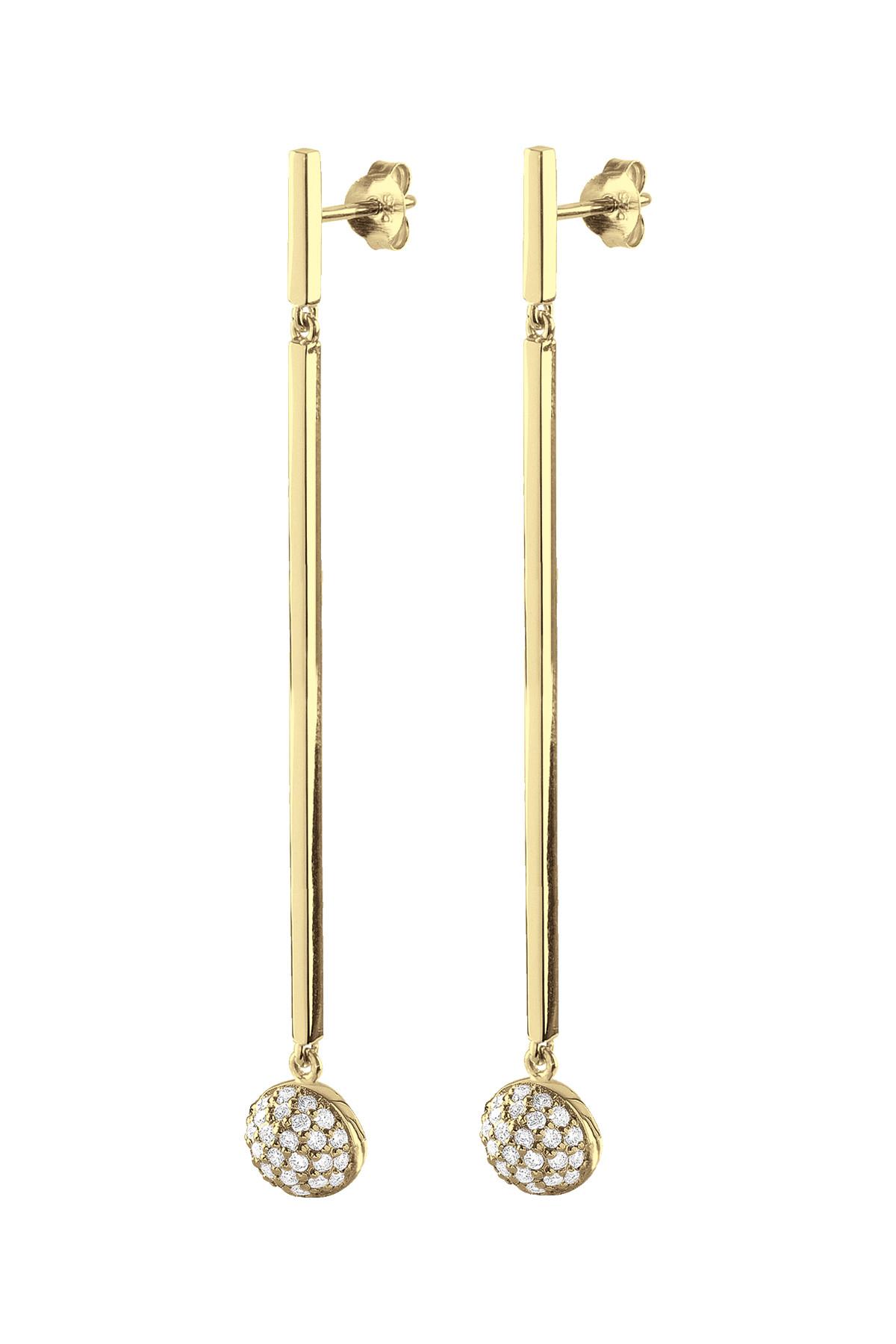 Image of   DYRBERG/KERN MARGOT ØREHÆNGERE 400757 (Gold, Crystal, ONESIZE)