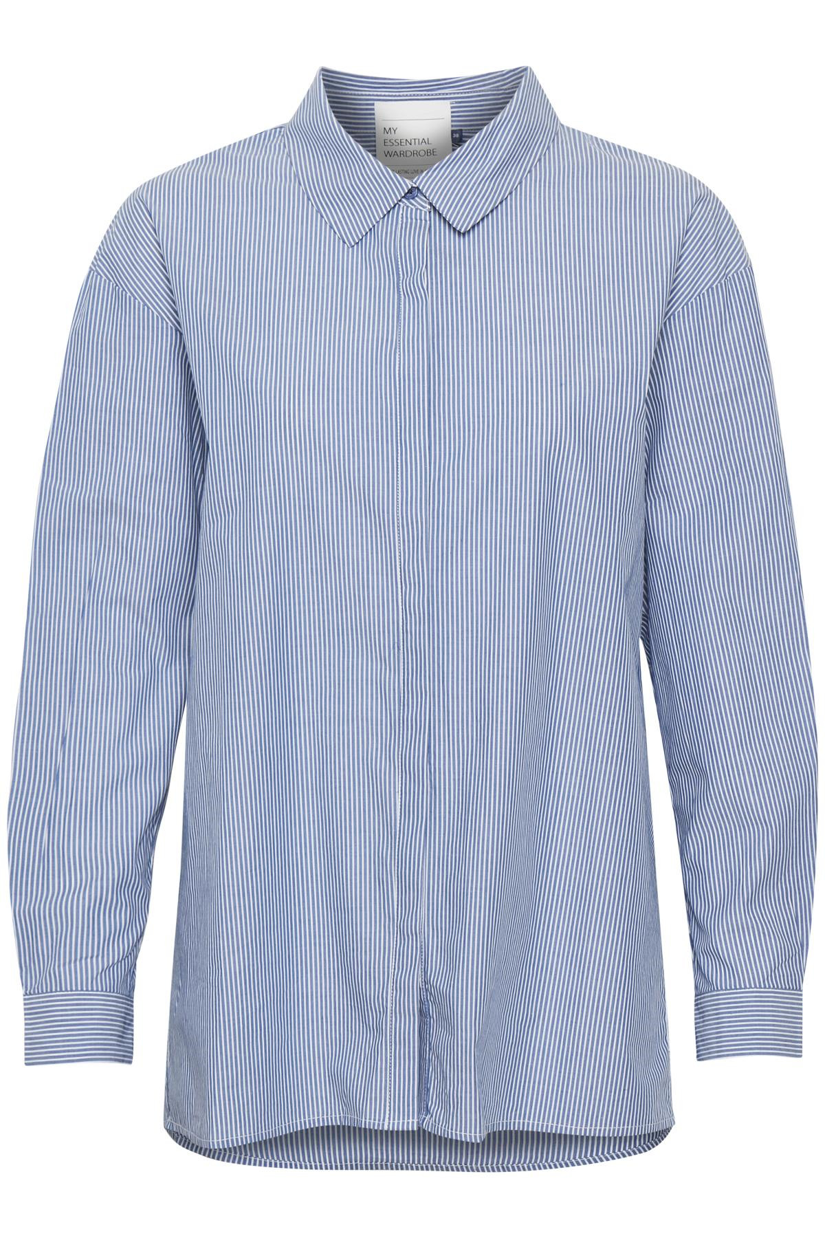 Image of   Denim Hunter 03 THE SHIRT 10702539 S (Striped Medium Blue 38076, 34)